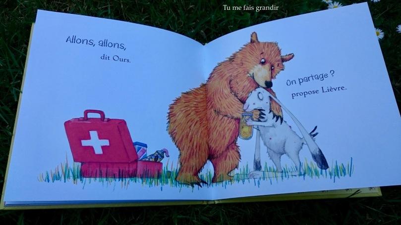 lievre et ours c'est a moi! on partage?