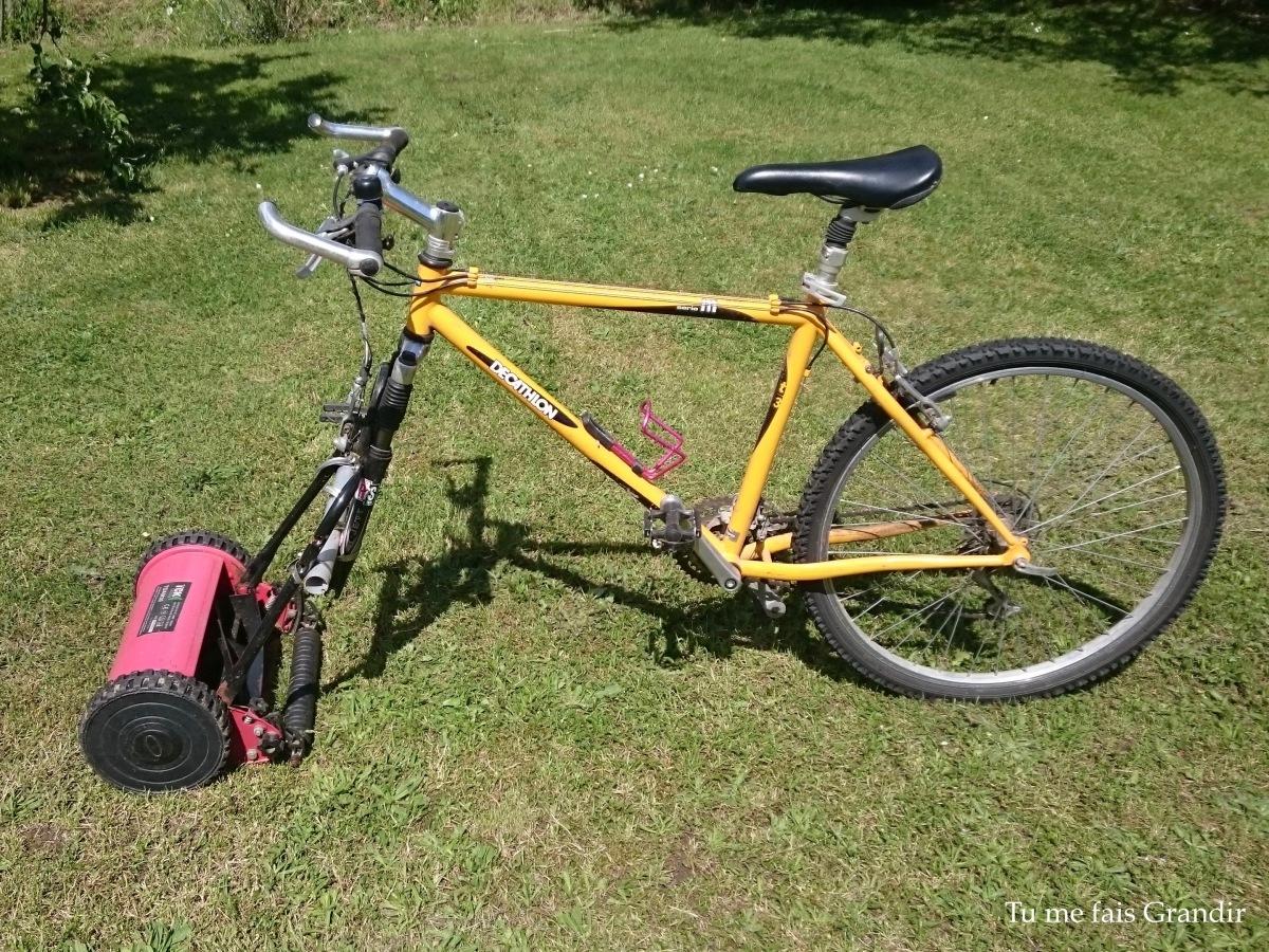 J'ai testé pour toi le vélo tondeuse