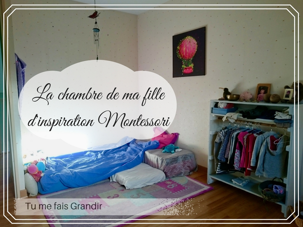 la chambre de ma fille d inspiration montessori tu me fais grandir. Black Bedroom Furniture Sets. Home Design Ideas