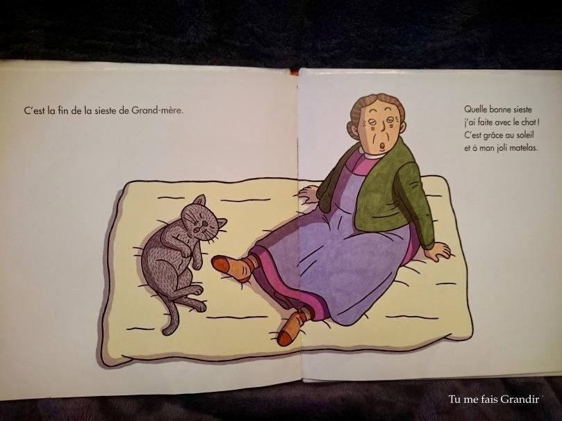 A la sieste, tout le monde reveil grand mère