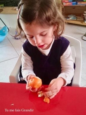 3 ans epluchage clementine
