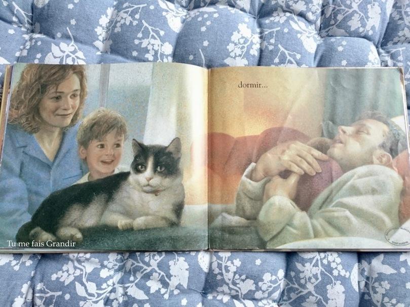 Dans les bras de papa petit matin