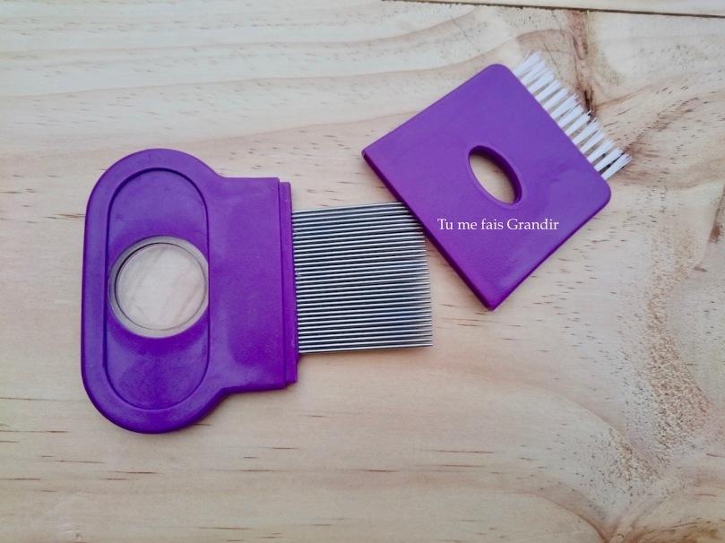Peigne antipoux métal