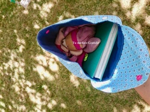 sac a dos intérieur