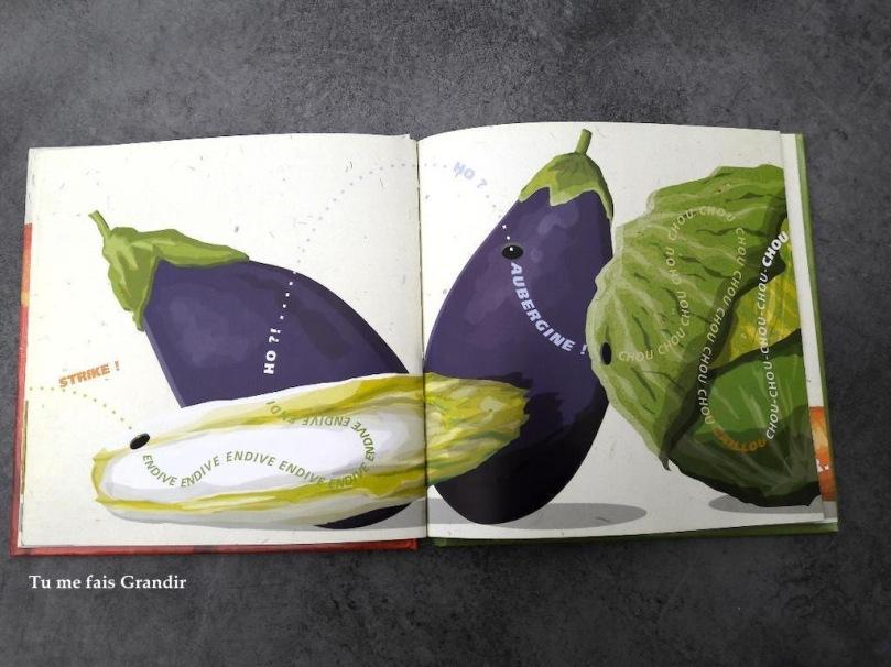 Grosse legume aubergine